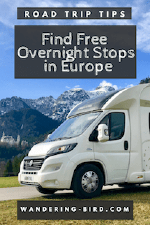 How do you find wild camping and aires for motorhomes in Europe? Where should you look, what sites do you go to? Here's how to find them! #motorhome #roadtrip #travel #overnightstops #aires #europe #campervan #camping #free #wild