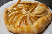Apple Galette with Apricot Glaze.
