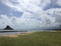 Chinaman's hat off the coastline of Oahu.