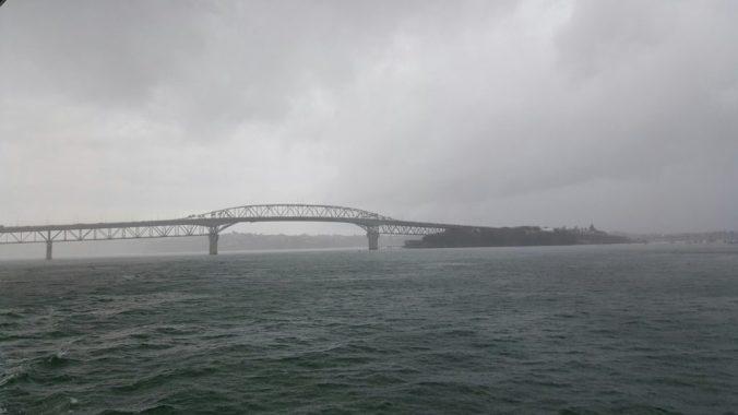Auckland Harbour Bridge looking gloomy