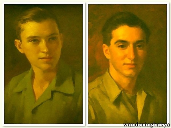Fernando Amorsolo's Portrait of Fernando Zóbel as a Teenager (Oil on wood) and Young American G.I. After the Battle of Manila in 1945 (Oil on canvas)