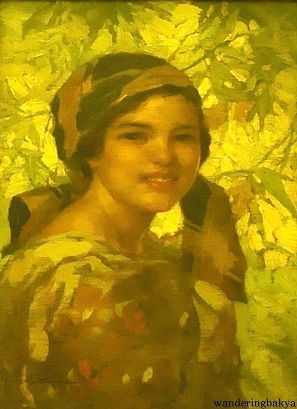 Dalagang Bukid by Fernando Amorsolo (Oil on canvas board)