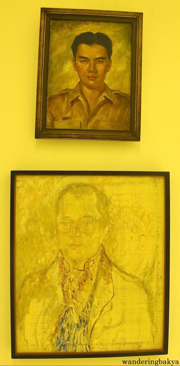 Portrait of Vidal Tan by Anita Magsaysay Ho (Oil on canvas) and Portrait of Fernando Zóbel by Jose Luis Balaguero (Oil on canvas)