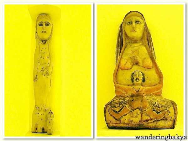White Madonna and Child (Wood) and Blonde Madonna (Wood) by Madman from Mallilipot, Albay