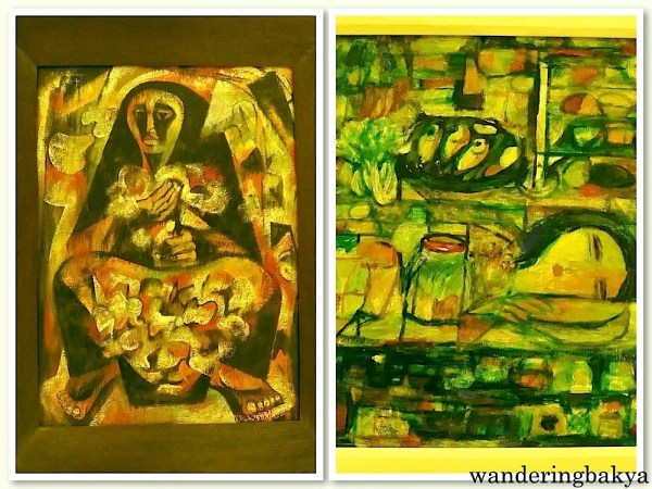 Magbubulaklak by Angelito Antonio (Oil on lawanit) and Sari-Sari Store by Antonio Austria (Oil on plywood)