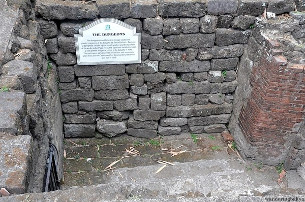 According to a historical marker, approximately 600 bodies of Filipinos were found inside this dungeon. They were victims of the atrocities perpetrated by the Japanese Imperial forces during the last days of February 1945. This dungeon is found near the Baluarte de Santa Barbara.