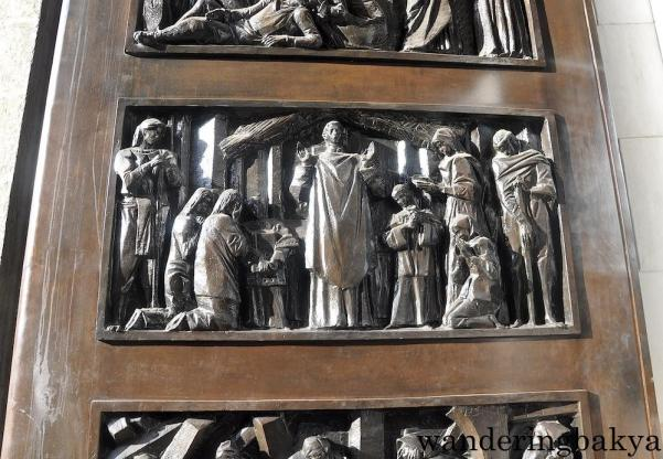 Part of the double door of Manila Cathedral