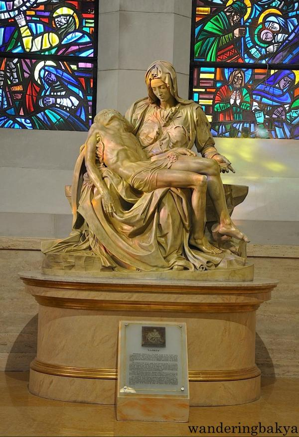 This Pieta is found on the left side of the cathedral, towards the entrance