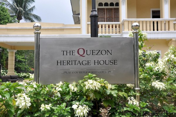The marker of Quezon Heritage House. It was a place of refuge and comfort for the family because they used this house during Quezon's bout with tuberculosis. The family gathered in the house every weekend and did what other normal families usually do, far from the glitz and glamour.