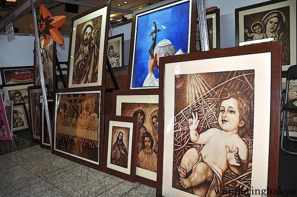 Artworks made by inmates of the New Bilibid Prison. Through the RJ (Restorative Justice) Prison Ministry, inmates are taught by nuns to express themselves using art materials. The proceeds from the artworks go to the families of the prisoners so they can still support their loved ones while incarcerated.