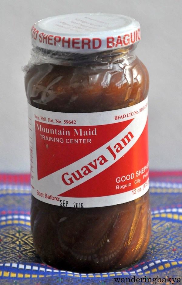 Guava Jam. This guava jam is fast becoming one of my favorites palaman (spread) on pan de sal, sliced bread or crackers. This bottle contains 475 grams of pure happiness. :) It costs only P200 (US $4.54). Ingredients of guava jam: guava, sugar, citric acid, sodium benzoate and salt.