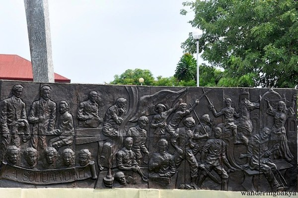 This mural by Apolinario Bulaong is located on the right side of the Marcelo H. del Pilar statue