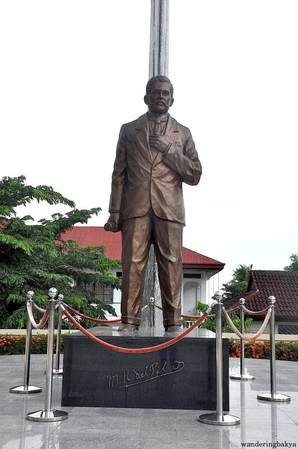 This statue of Marcelo H. del Pilar aptly stands in the middle of the property.