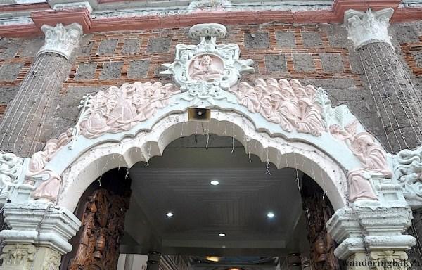 The upper portion of the façade