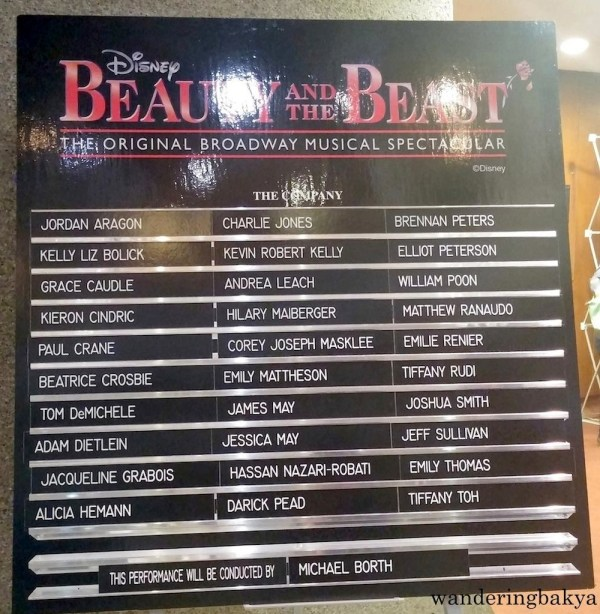 The cast of Disney's Beauty and the Beast At CCP