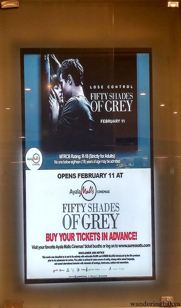 "50 Shades of Grey ""poster"" in Trinoma"