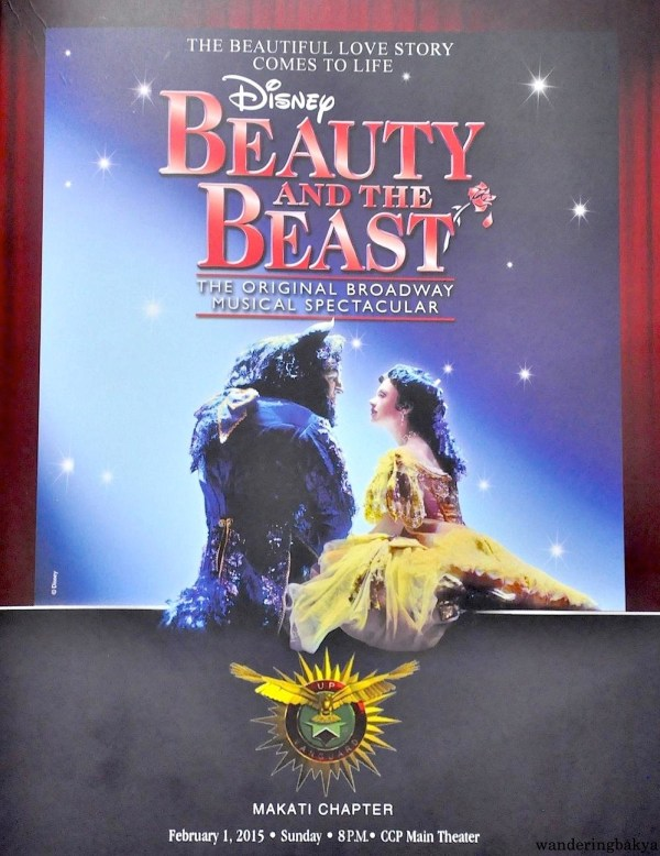The front cover of the program for Disney's Beauty and the Beast