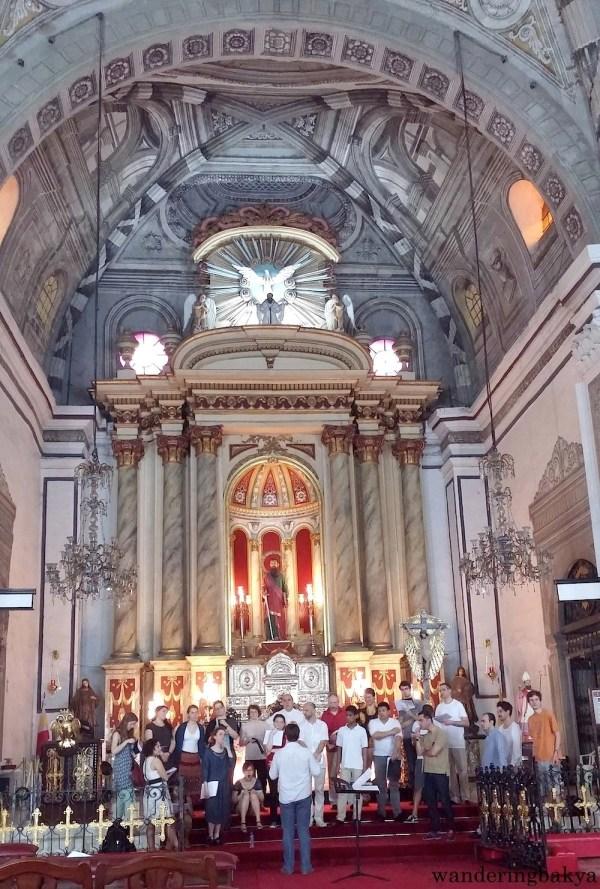 Gregorian Choir of Paris hours before their performance in San Agustin Church