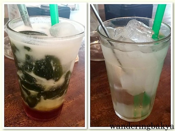 Es Cincau Hijau (with ice, jelly agar-agar, coconut milk and palm sugar), IDR 13,000 (US $1.01) and Es Lidah Buaya (iced aloe vera), IDR 13,000 (US $1.01) both at Bu Ageng. Es Cincau Hijau was a party in my mouth. The jelly did not have a lot of flavor but the combination of coconut milk and the sweetness of palm sugar was soooooo good.