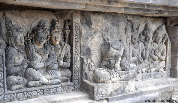 Bas-relief at Prambanan temple