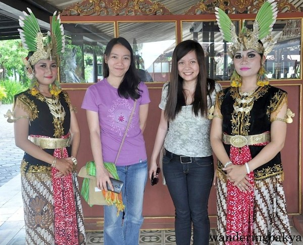 Virg and I with the Javanese dancers