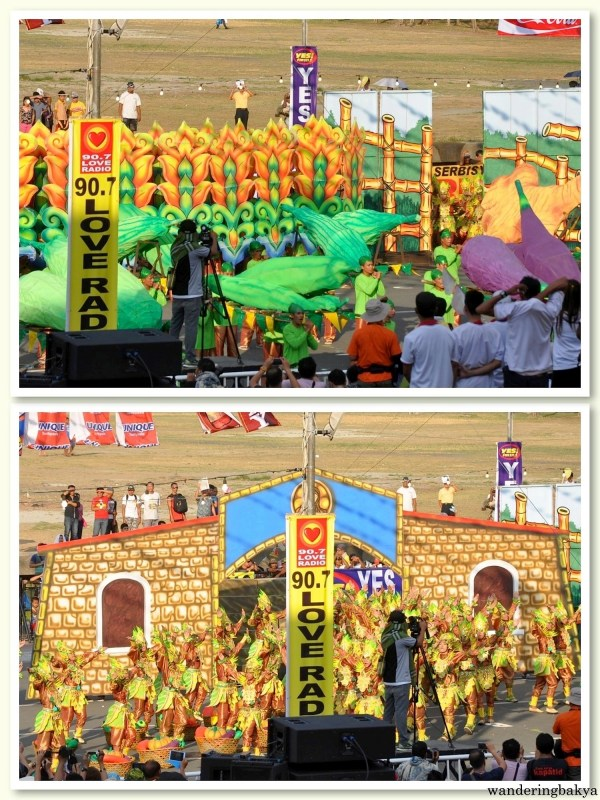 Props of Mayaw-Mayaw Festival group. The objects on the top photo are vegetables.
