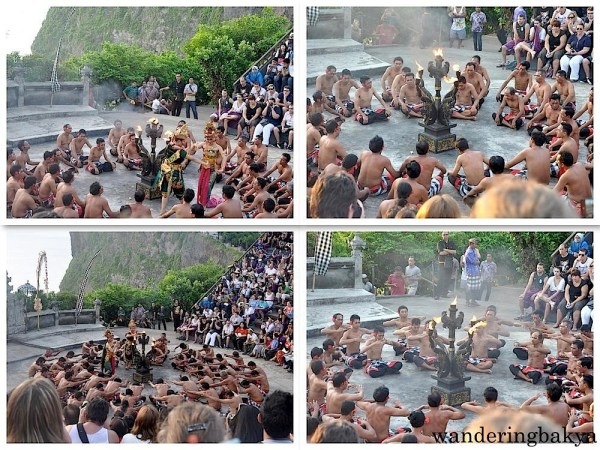 Parts of kecak and fire dance