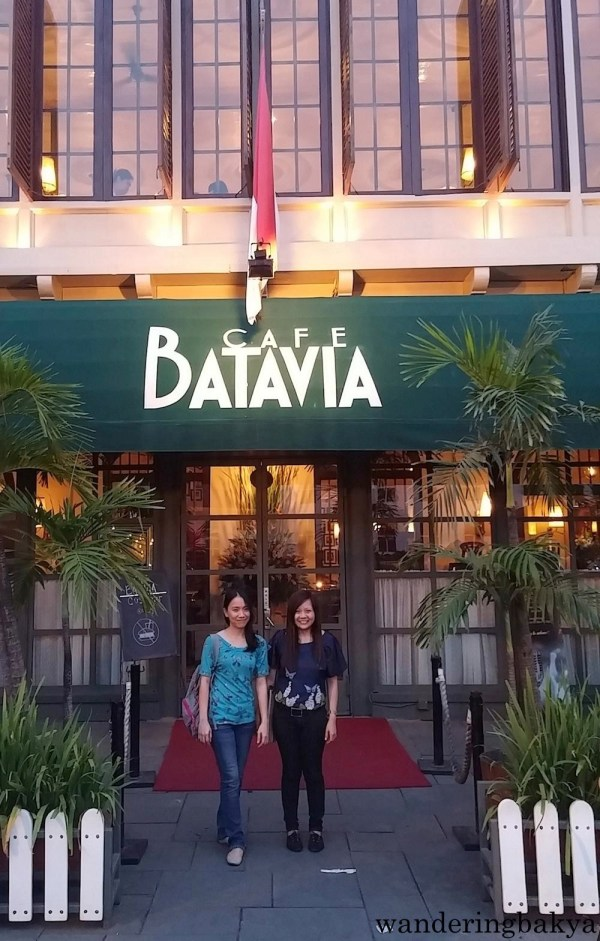Virg and I in front of Cafe Batavia (and one of our more awkward poses, I might add hehe)