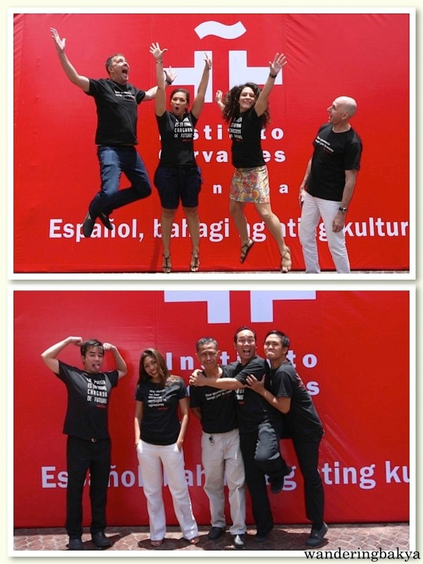 The professors and kuyas of Instituto Cervantes Manila in their El Día del Libro shirts.
