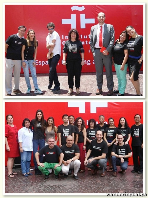 The staff of Instituto Cervantes Manila in their El Día del Libro shirts