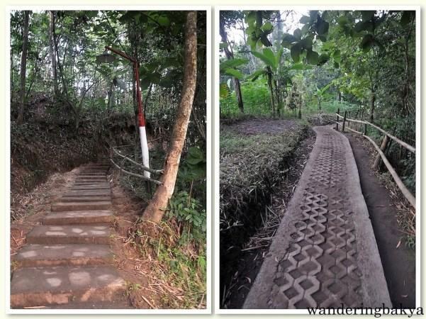The road up Setumbu Hill
