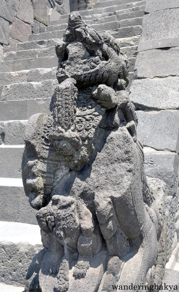 Image found at the foot of the stairs at Prambanan