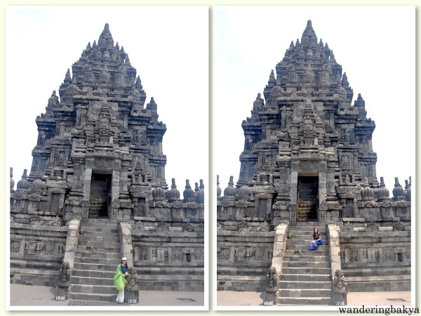 Virg and I with one of the main temples of Prambanan