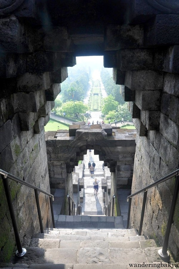 View from the upper level of Borobudur temple