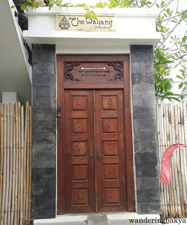 The gate of The Wayang Homestay. Our home for 3 days in Yogyakarta.