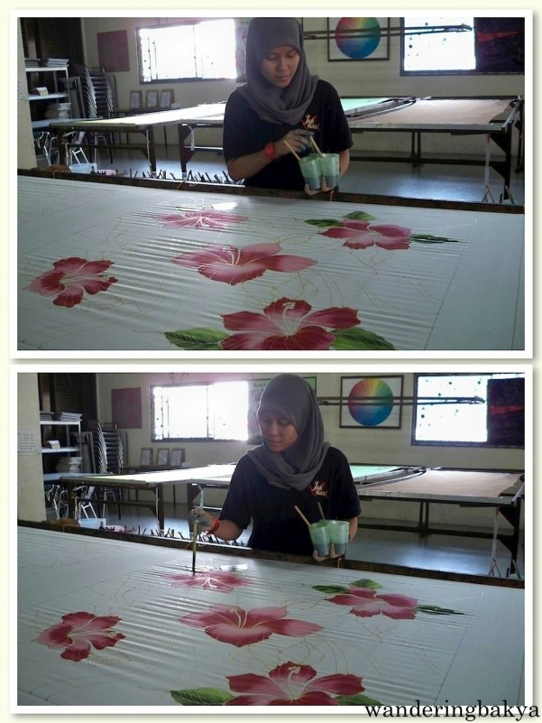 Batik-making step 2