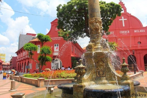 Christ Church in Melaka, Malaysia. This Dutch colonial-styled structure is the oldest functioning Protestant church in the country.