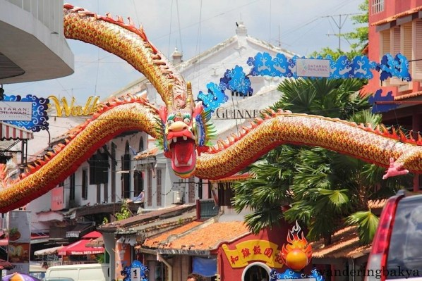 This dragon of prodigious proportions welcomed visitors to Melaka.