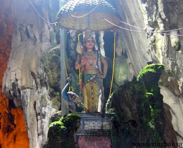 One of the figures seen inside Batu Caves.