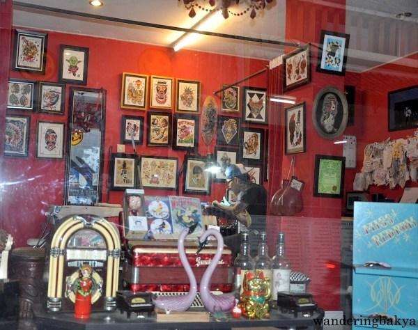 Inside Lady Rose Tattoo Shop