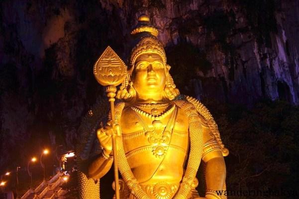 A closer look at Lord Murugan's statue at Batu Caves