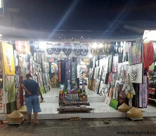 Stores in Kuta are open at night