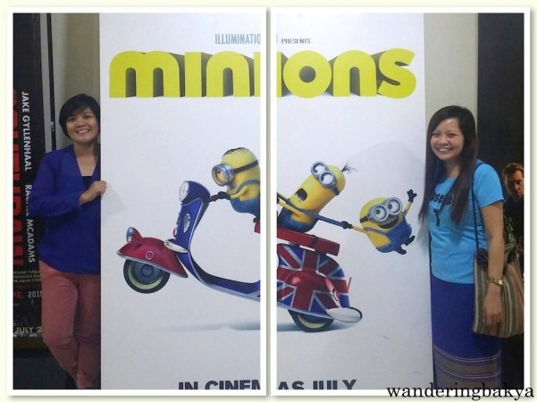 After the movie, we had some vain moments with the minions. :)