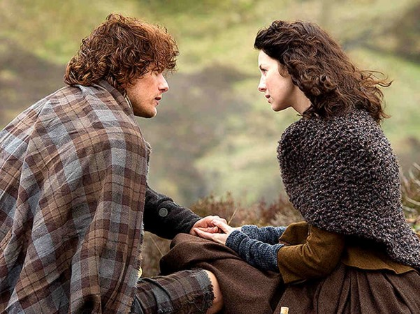 Jamie and Claire. Theirs is a love that knows no boundaries. Photo from people.com.