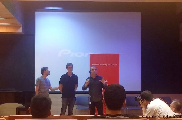 Sergio and Juan Manuel with José María Fons Guardiola, Cultural Affairs Coordinator of ICM.
