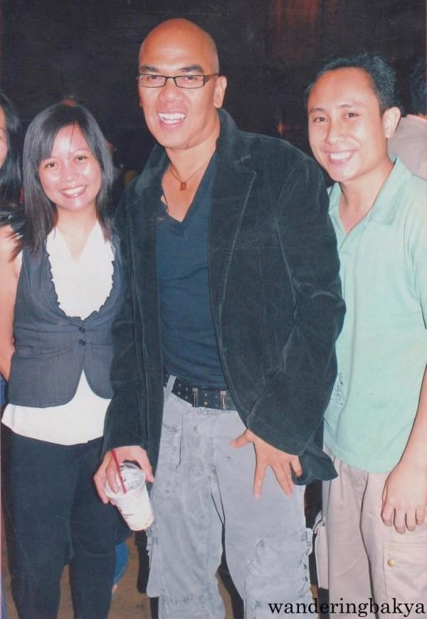 With Jed and Boy Abunda at Cinemalaya. Photo by John.