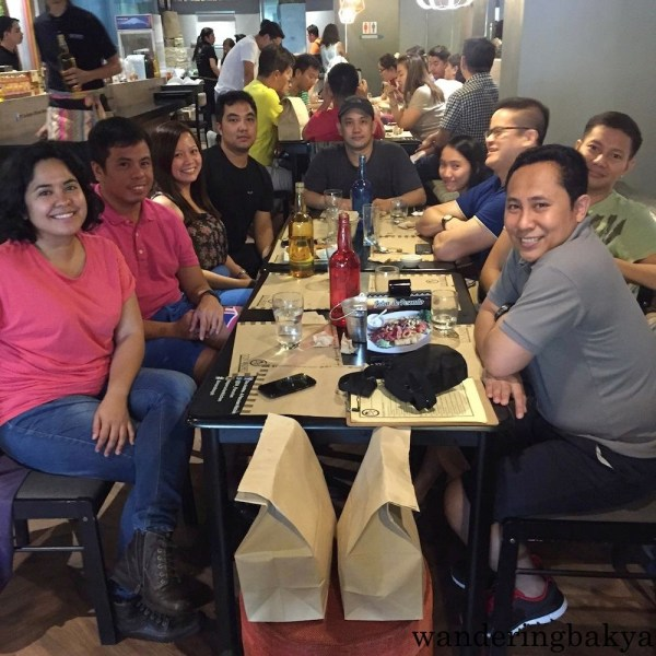 Lunch with the singles two Saturdays ago. :)