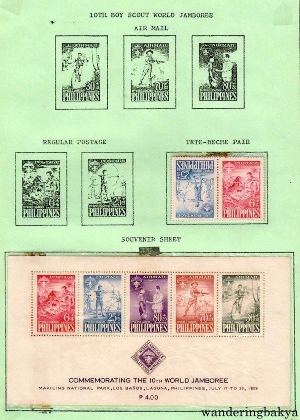 Philippine Stamps: Souvenir Sheet Commemorating the 10th World Jamboree.
