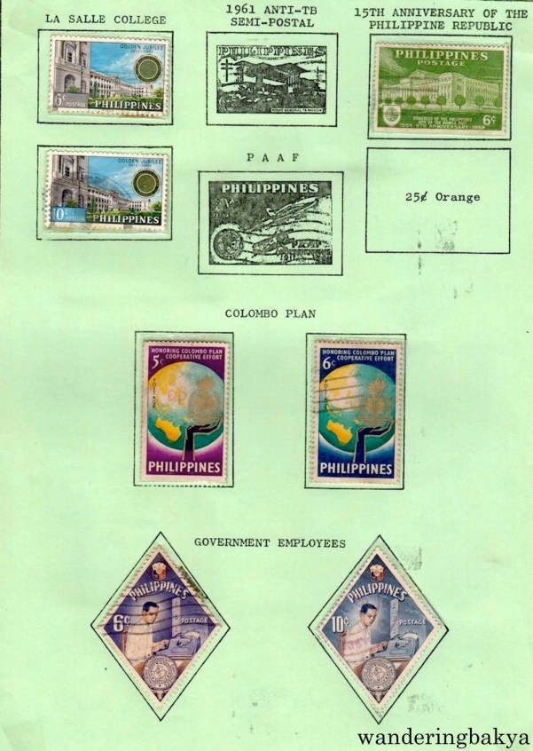 Philippine Stamps: La Salle College, 15th Anniversary of the Philippine Republic, Colombo Plan and Government Employees.