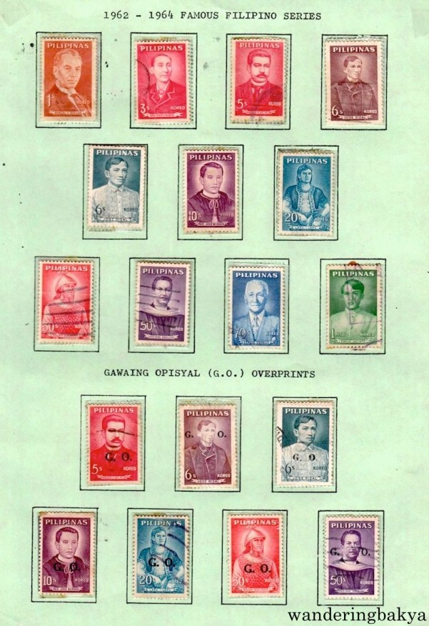 Philippine Stamps: 1962 – 1964 Famous Filipino Series and Gawaing Opisyal Overprints.